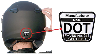 Motorcycle Helmet DOT Label