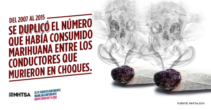Se duplico el numero que habia consumido marihuana entre los conductores que murieron en choques