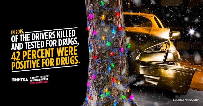 In 2015, Of the drivers killed and test for drugs, 42% were positive for drugs.