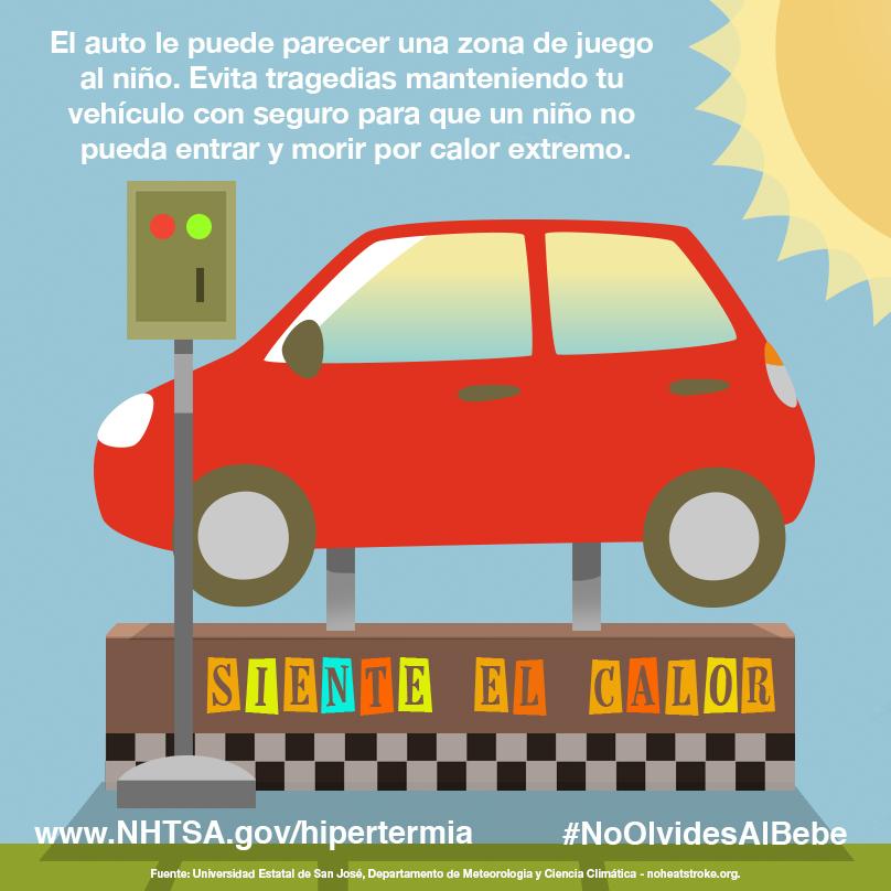 Para los niños, el auto puede parecer una zona de juego. Mantén las llaves fuera del alcance de los niños para prevenir tragedias.