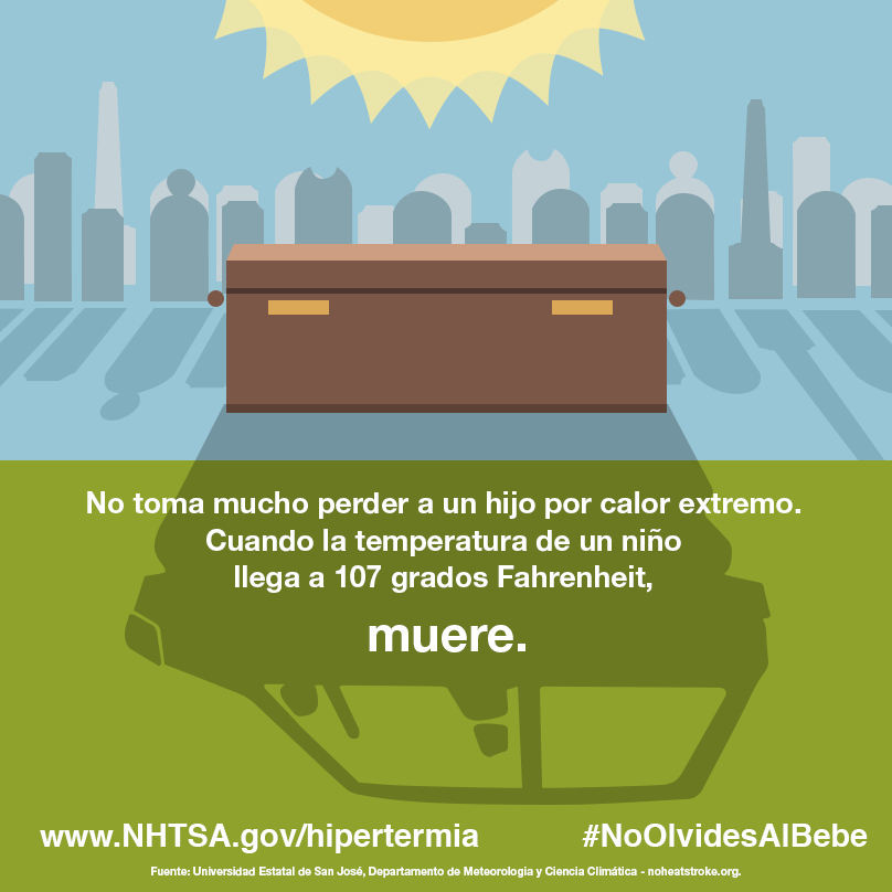 Cuando la temperatura de un niño alcanza los 107 grados Fahrenheit, mueren. La hipertermia mata. Revisar antes de cerrar, siempre.
