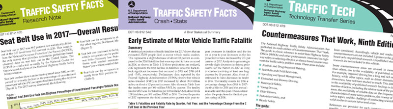 Traffic Safety Facts Banner - GHSA 2018 Material