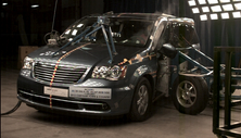 2015 Chrysler Town and Country Side Crash Test