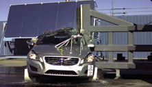 2018 Volvo S60 Cross Country Side Pole Crash Test