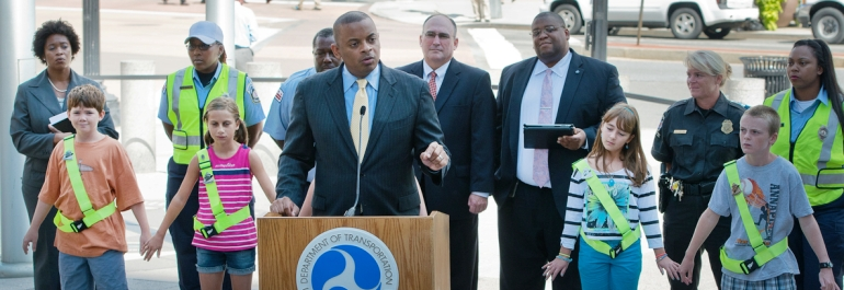 Transportation Secretary Anthony Foxx at Aug. 5 'Everyone Is A Pedestrian news event'