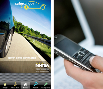 Get recalls information using NHTSA's SaferCar mobile app, or sign up for e-mail notification