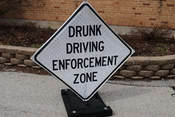 Image of pop-up enforcement sign